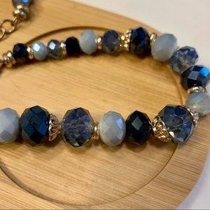 Jewelry - Shades of Blue Beaded Necklace